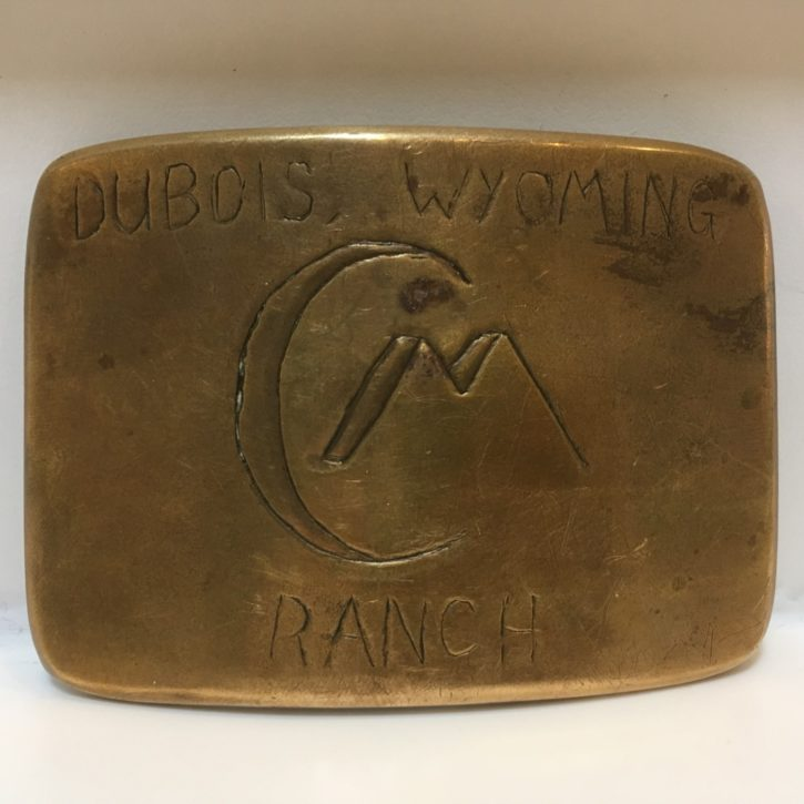 CM Ranch belt buckle - Dubois, WY