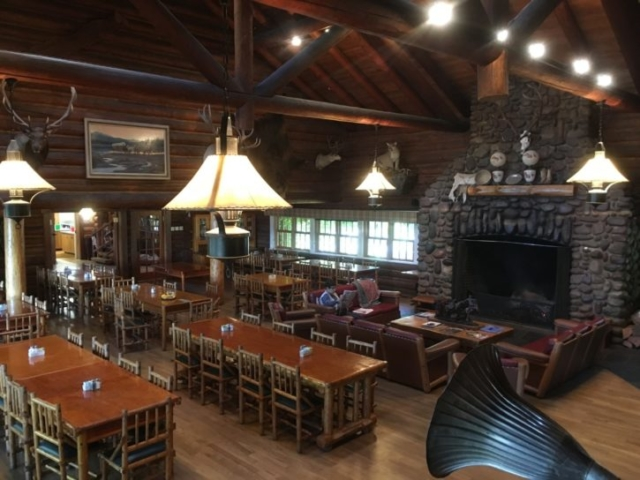 Dining Room & Living Room at Flathead Lake Lodge in Montana