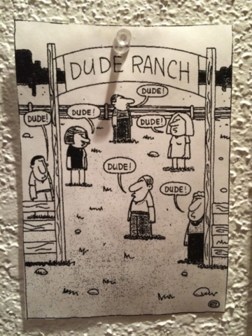 Dude Ranch Cartoon