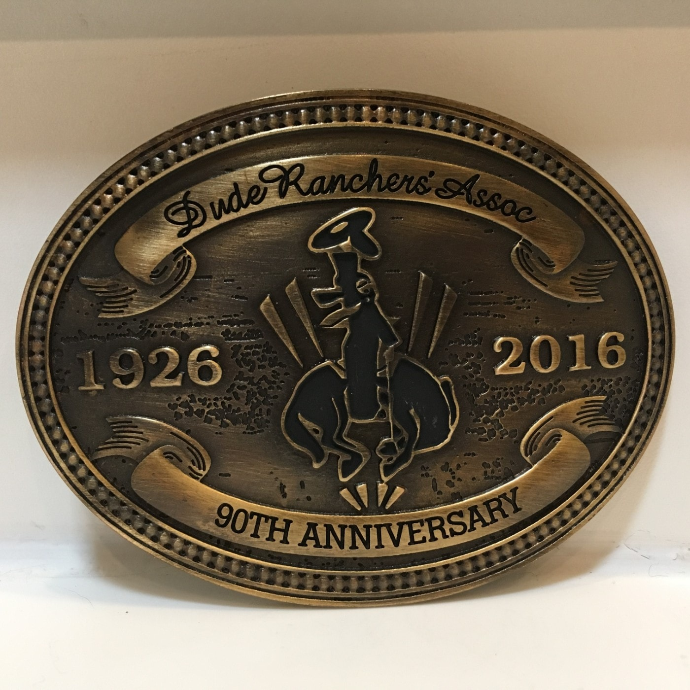 Dude Ranchers' Association Conference Belt Buckle 90th Anniversary