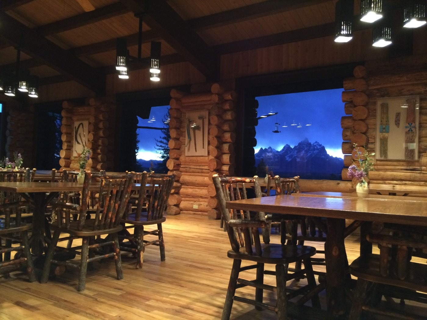 Moose Head Ranch Dining Room - Grand Teton views